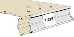 Madix Single Position Price Tag Molding